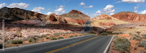 Valley of fire road in Nevada