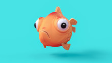 3d Cartoon Character Of A Sphe...
