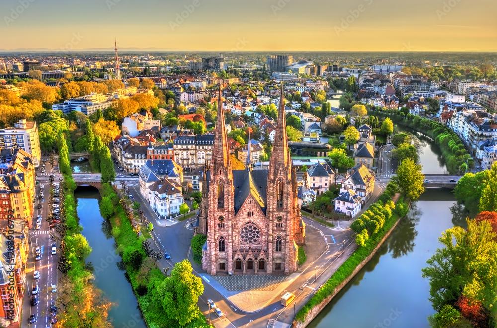 Fototapety, obrazy: St. Paul Church in Strasbourg - Alsace, France