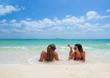 Two women enjoying their holidays on a transat