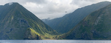 Panorama Of Molokai Sea Cliffs
