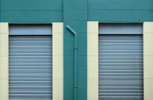 Wall With Metal Door