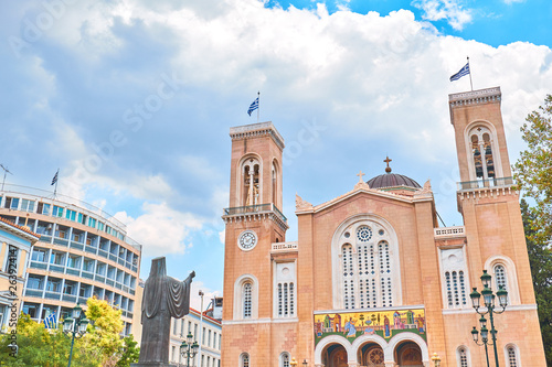 The Metropolitan Cathedral of the Annunciation is the cathedral church of the Archbishopric of Athens and all Greece Wallpaper Mural