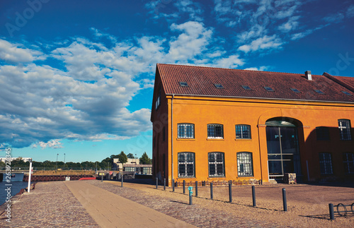 Christianshavn is a neighbourhood in Copenhagen, Denmark. Canvas Print