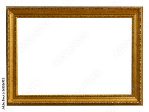 Frame picture antique antiques isolated on white background Canvas