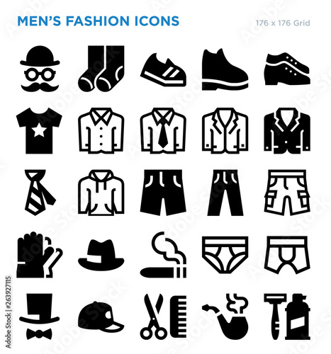 Mens Fashion Vector Icon Set , Buy this stock vector and
