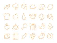 Food Pictogram. Kitchen Menu F...