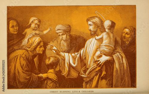 Christian illustration. Old image Fototapeta