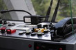 dashboard controls of a cable car