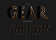 Vector Of Modern Gear Alphabet...