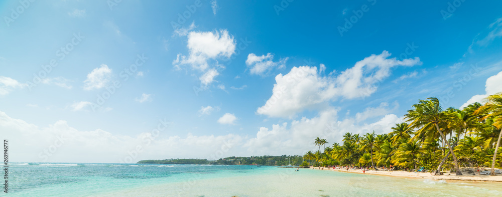 Fototapety, obrazy: Cloudy sky over La Caravelle beach in Guadeloupe