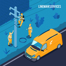 Electrician Lineman Services Poster