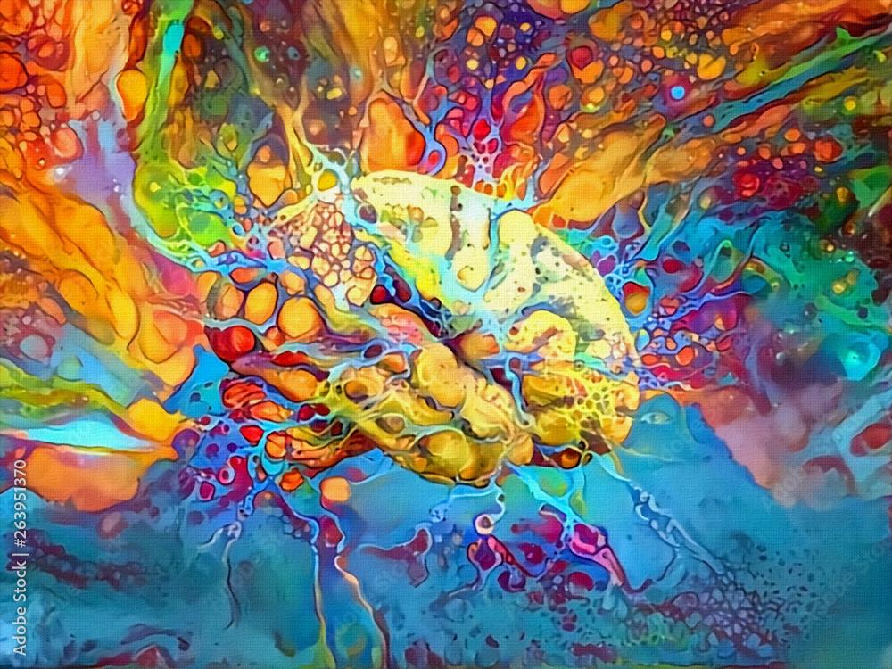 Fototapety, obrazy: Psychedelic Brain
