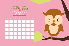 Cute Animals Calendar