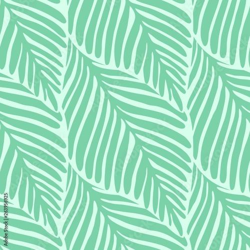 Ingelijste posters Tropische Bladeren Abstract green leaf seamless pattern. Exotic plant.