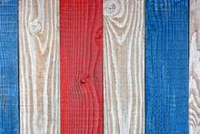 Rustic Red White And Blue Boards Background