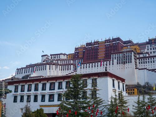 Slika na platnu View of the Potala Palace in Tibet Autonomous Region, China.