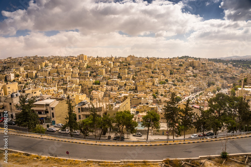 Photo Aerial view of Amman City