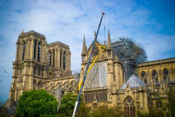 Notre Dame de Paris after the fire