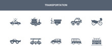 10 Transportation Vector Icons...