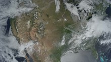 Photorealistic Earth Zooming Out Of North America