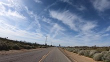 Driving By Mojave Desert Spring Vegetation, Pulling Over, Backing Up