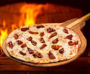 Panel Szklany Do pizzerii pizza massa