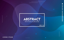 Dynamic Wave Background. Modern Blue Gradient Color Wavy Abstract Shape Composition. Colorful Fluid Landing Page.