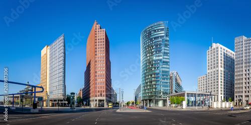Photo  panoramic view at the potsdamer platz, berlin