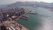 Modern Architecture of Hong Kong's Cityscape from Above. FullHD video