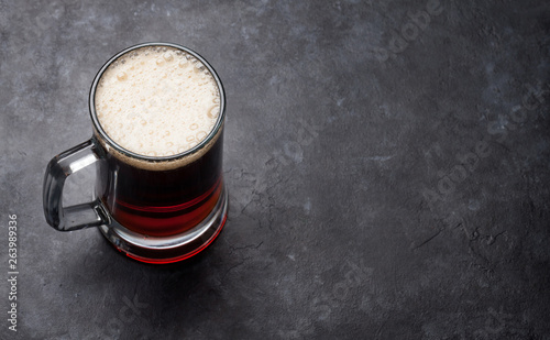 Poster de jardin Nature Glass of dark beer