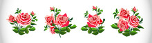 Rose Set. Coloured Images Of B...