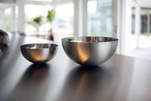 Two Metal Bowls In A Modern Ki...