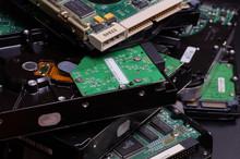 Worn Electronics. A Stack Of U...