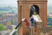 Reconstruction And Restoration Of The Bell Tower On The Old Italian Church