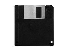 Old Computer Floppy Disk, Blac...