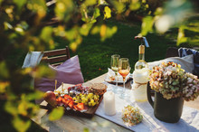 Summer Outdoor Party Table Wit...