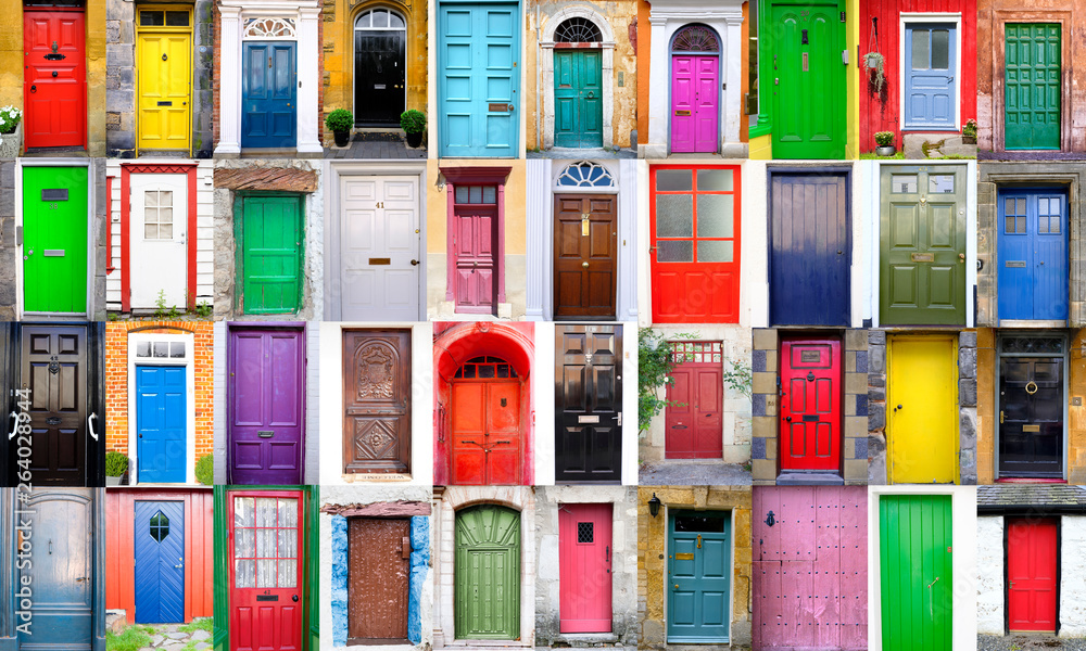 Fototapeta Collage de puertas de colores