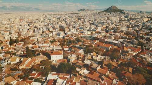 Printed kitchen splashbacks Athens View of Athens, Greece city skyline from above.