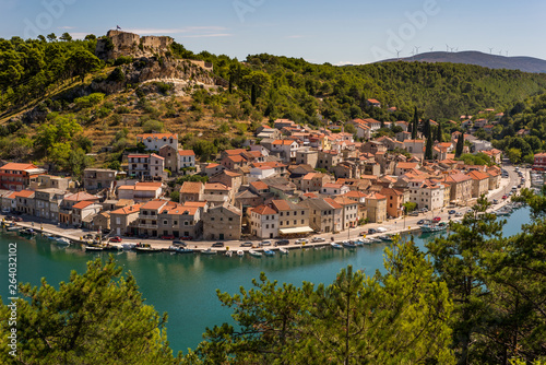 Fotografie, Obraz  Novigrad city, Dalmatia, Croatia. City on Adriatic coastline.