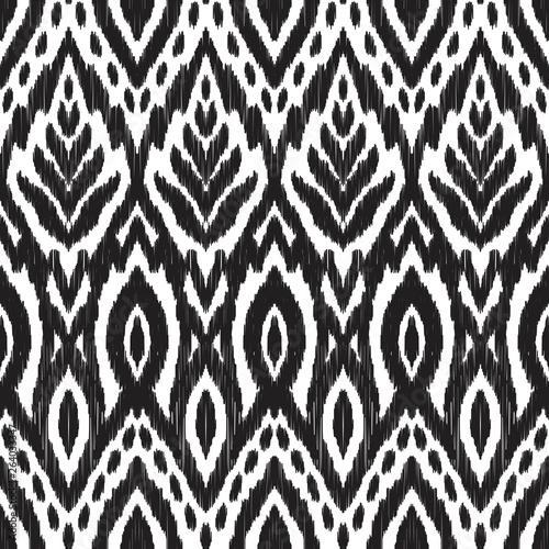 In de dag Boho Stijl Ikat seamless pattern.