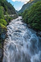 Strong River In Georgia Svanetia