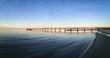 Pier at Schoenberger Strand in Probstei, Schleswig Holstein Germany