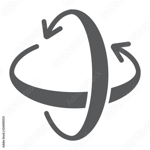 Fotomural  Rotation axis glyph icon, pivot and view, rotate sign, vector graphics, a solid pattern on a white background