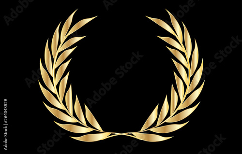 Photo  Vector Golden Laurel Wreath