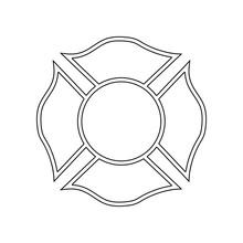 Firefighter Emblem Icon. Eleme...