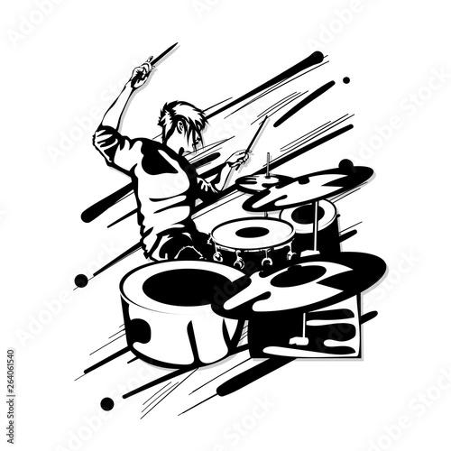 Fotografía drummer music graphic