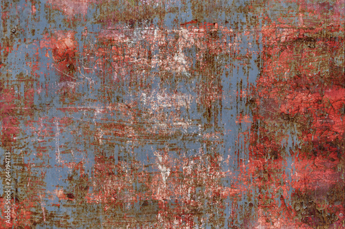Poster Metal Abstract texture of rusty metal background.
