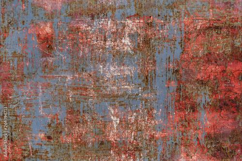 Foto auf AluDibond Graffiti Abstract texture of rusty metal background.