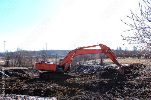 Valokuva  construction equipment digging a hole